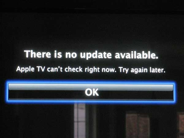 AppleTV can't update, can't view Youtube videos, cannot