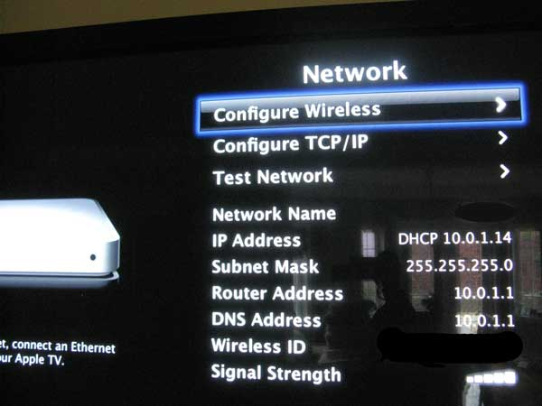AppleTV IP address