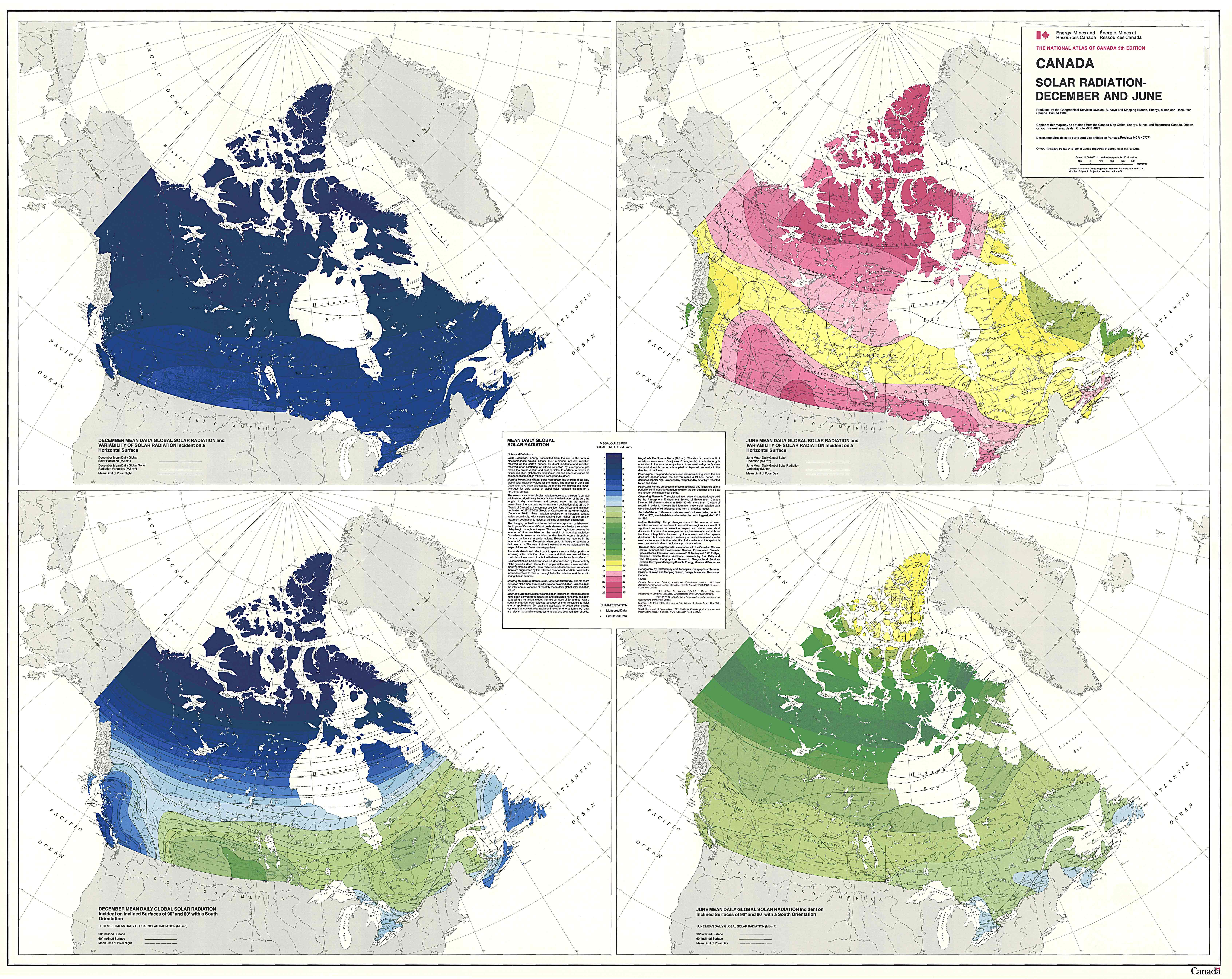 Economics of solar heating in atlantic canada canada solar insolation map gumiabroncs Images