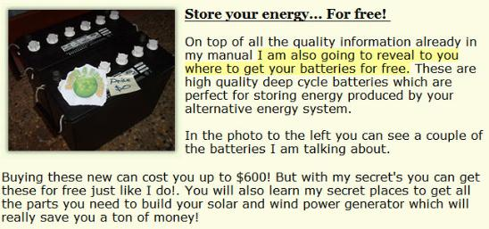 Fraudulent advertisement from earth4energy