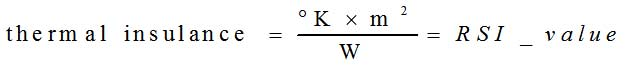 Insulance equation