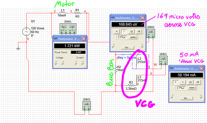 voltage control guard vcg here are the results of perfoming a circuit simulation multisim multisim is a electrical and electronics simulation package from national instruments
