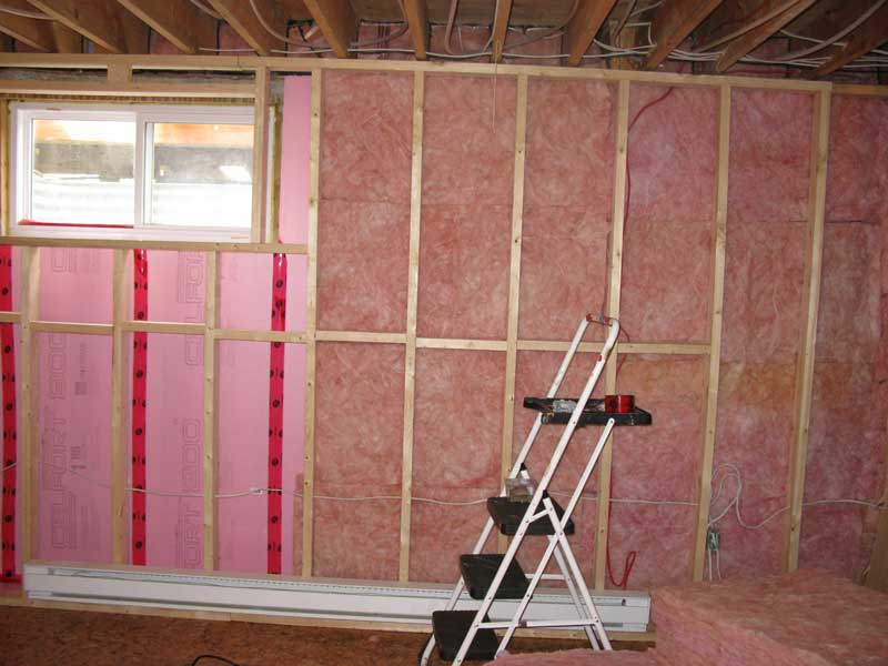 attach non porous insulation to the foundation walls to keep moist air
